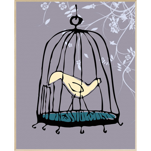 Bird Cage Wall Decor, Plaque
