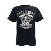 Men's T-Shirt, Shovelhead Engine Short Sleeve, Black 30294026, Harley Davidson