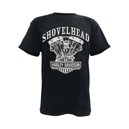 Men's T-Shirt, Shovelhead Engine Short Sleeve, Black 30294026, Harley