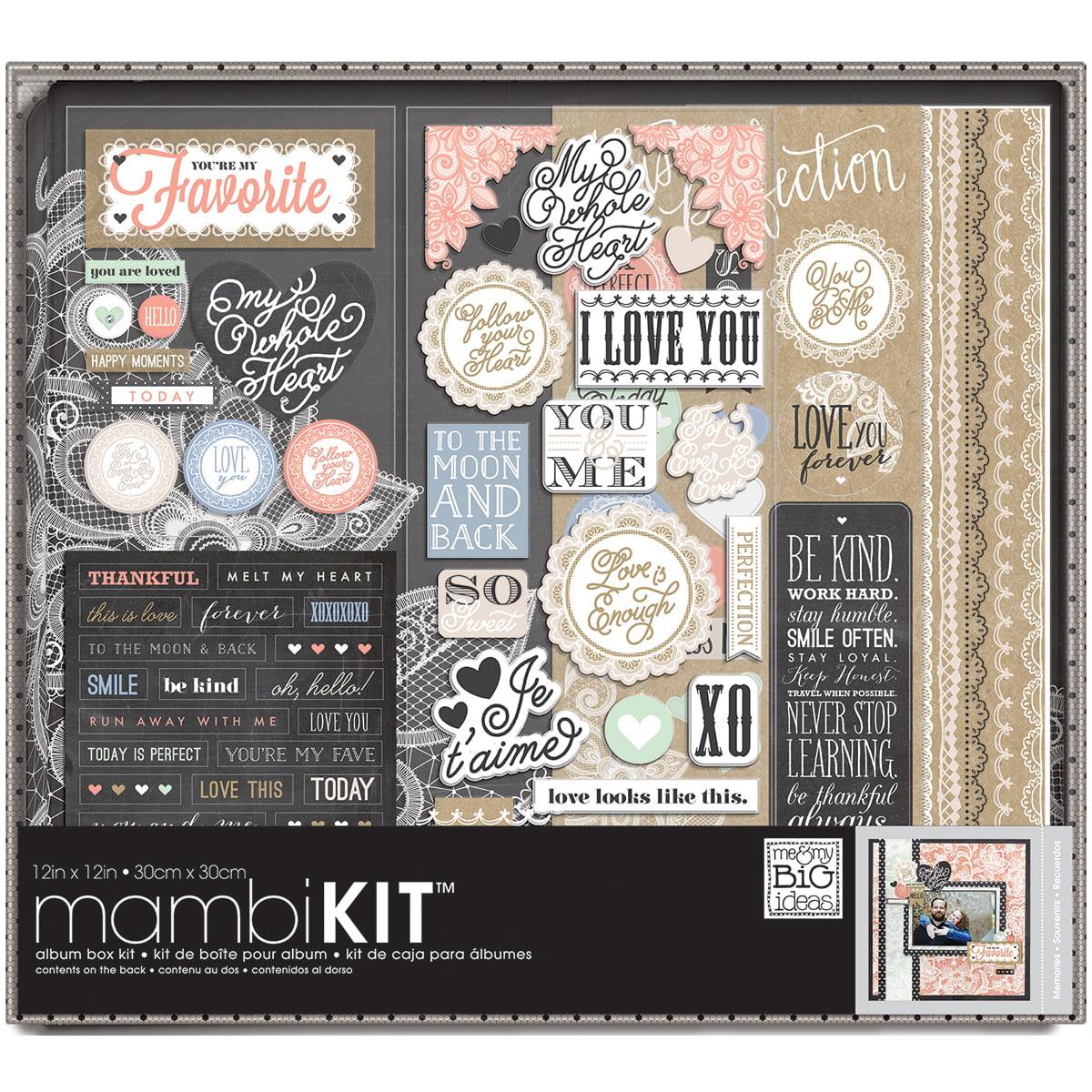 "Me & My Big Ideas Boxed Album Kit 12""X12""-Lacey Charm"