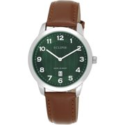 Eclipse Men's Round Green Watch