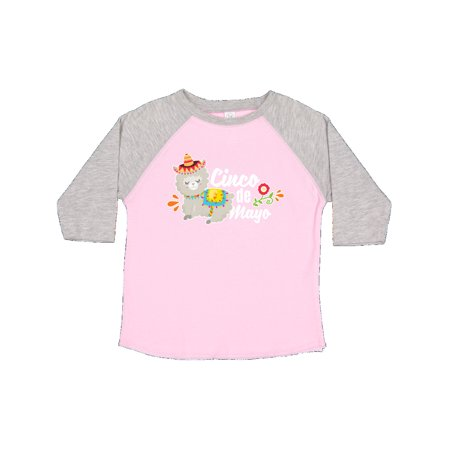 Cinco De Mayo with Llama and Flower Toddler T-Shirt