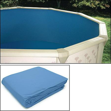 Heritage 20 gauge vinyl liner for round pools 18 39 x 52 for Plastik pool rund