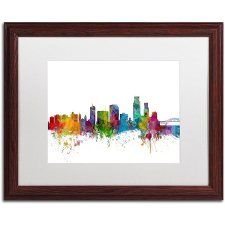 Trademark Fine Art \'Corpus Christie Texas Skyline\' Canvas Art by ...