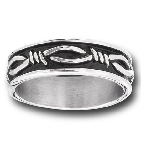 Eternity Barbed Wire Design Wedding Ring Stainless Steel Knot Band Size 15