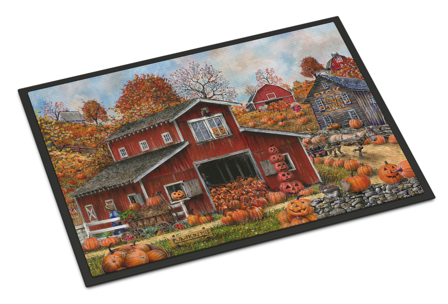 Pick your Own Pumpkins Fall Doormat by Caroline's Treasures