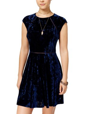 88f5d29f0 Product Image B. Darlin Womens Juniors Crushed Velvet High Neck Party Dress