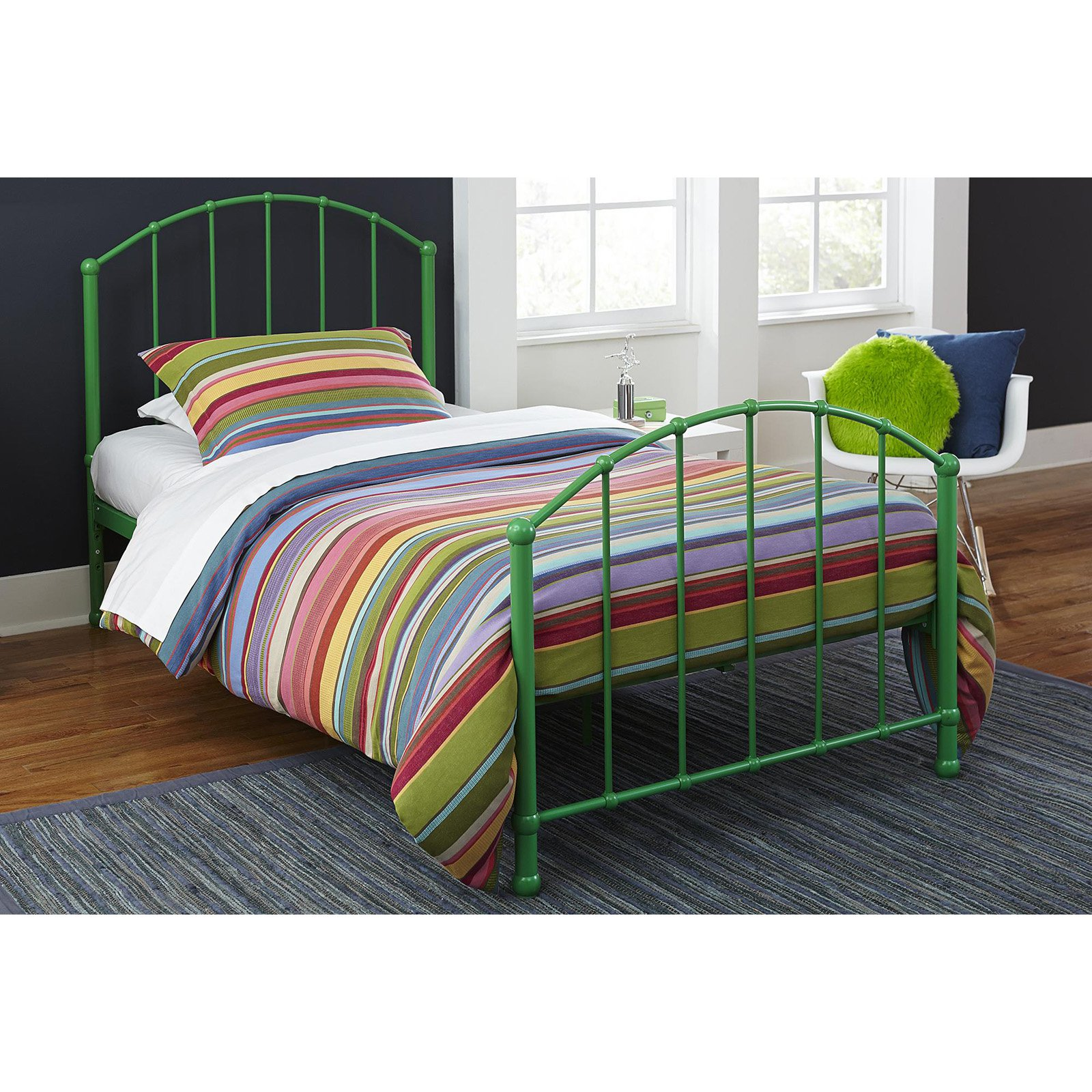 DHP BrickMill Ivy Metal Bed Frame, Twin Size, Multiple Colors