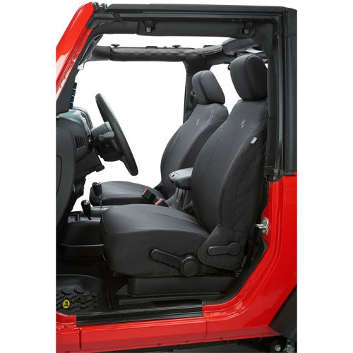 Bestop 29280-35 Black Diamond Front Seat Cover for 2007-2012 Jeep 2DR Wrangler