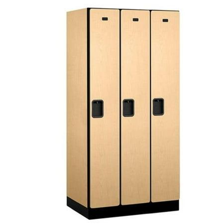 Salsbury  Designer Wood Locker Single Tier - 3 Wide - 6 Feet High - 21 Inches Deep - Maple