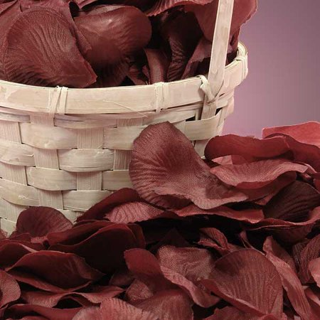 Bulk Rose Petals (Wine Burgundy Bulk 400 pcs Silk Flower Rose)
