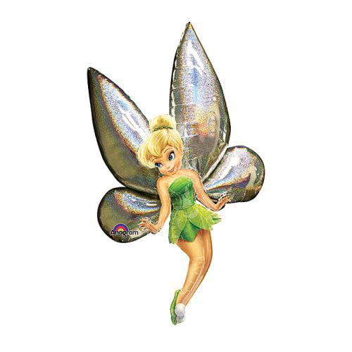 """Anagram Air Walker Disney Tinker Bell 31""""x66"""" Foil Balloon, Green, Silver"""