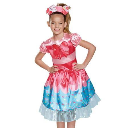 Halloween Costumes Shopkins (Girls Shopkins Jessicake Cake Halloween Costume Dress & Headband Small)