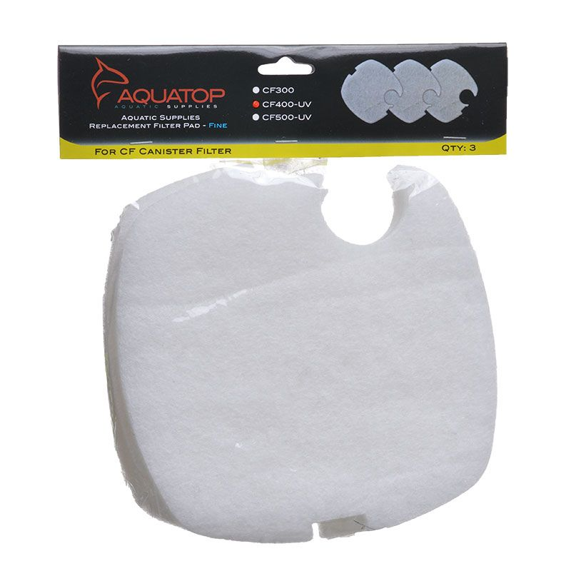 Aquatop Replacement Fine Filter Pads For CF400-UV - Fine (3 Pack) - Pack of 2
