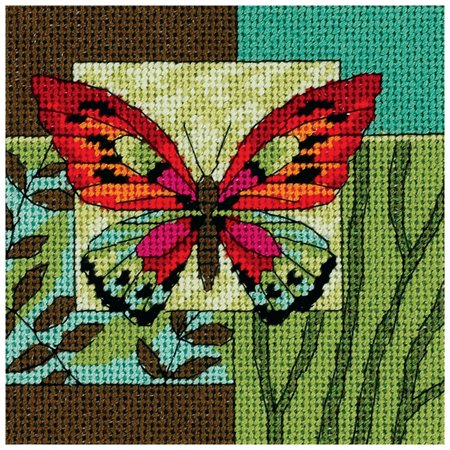 Dimensions Butterfly Impression Mini Needlepoint Kit, 5