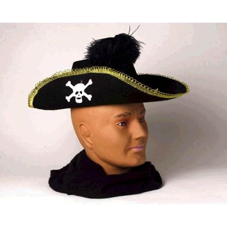 Skull Pirate Adult Costume Hat w/Feather for $<!---->
