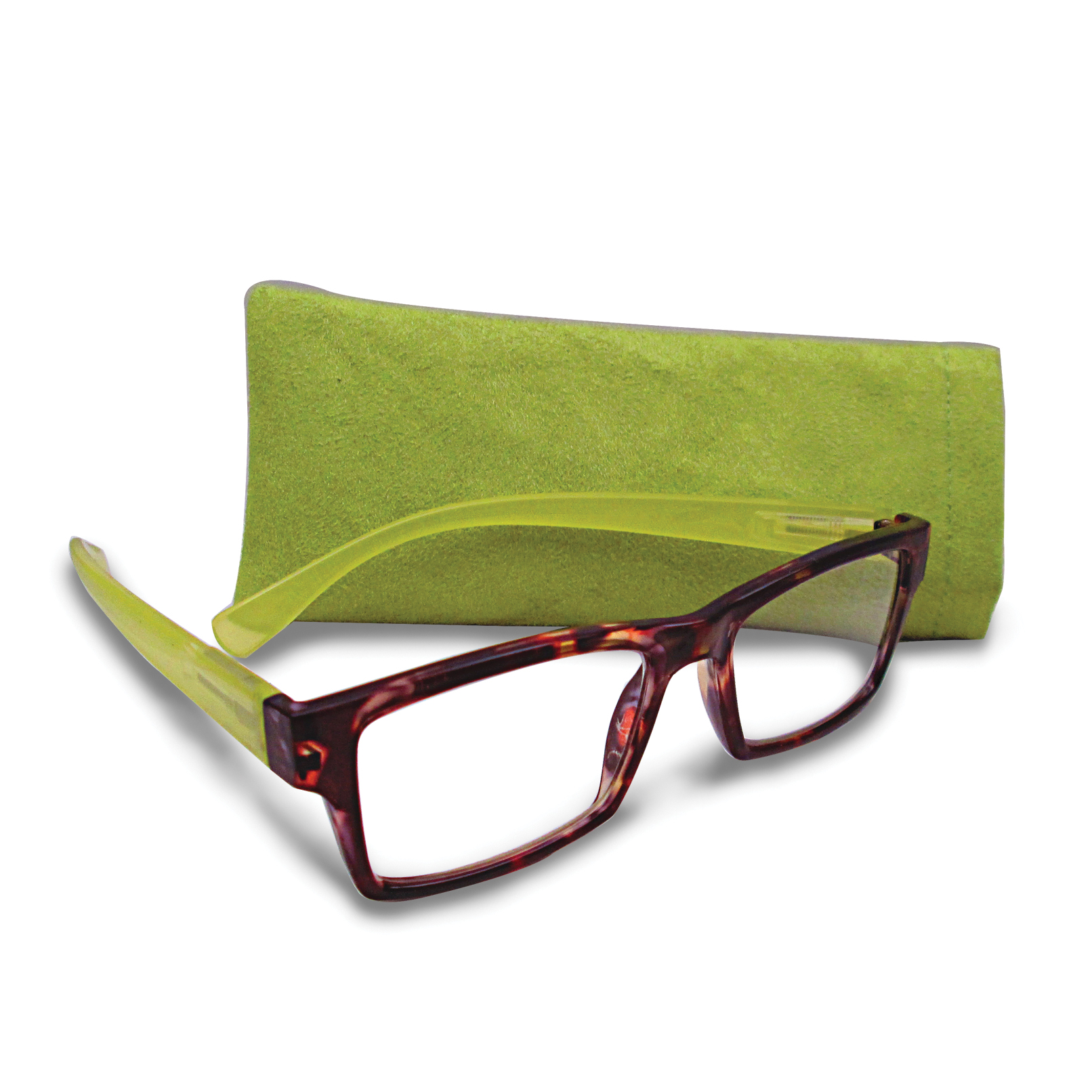 Tortoise and Green 1.25 Magnification Reading Glasses