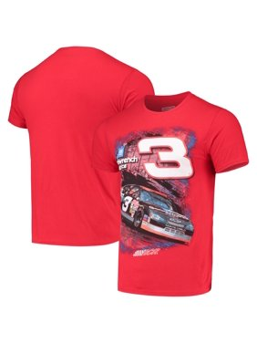 Dale Earnhardt Checkered Flag Goodwrench T-Shirt - Red