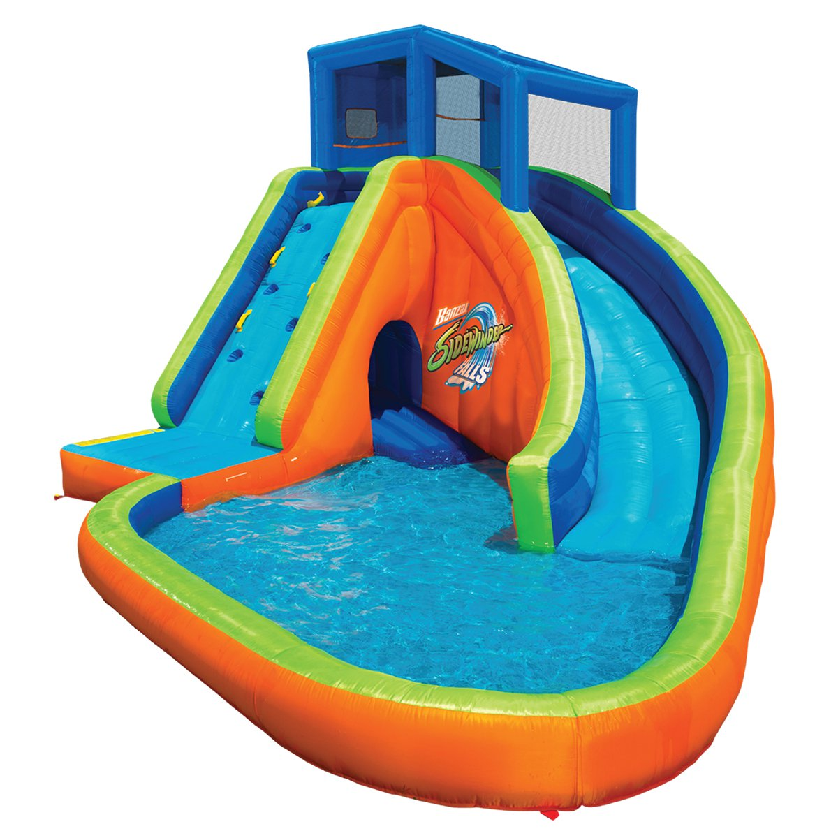 Banzai Living Sidewinder Falls Inflatable Water Park Pool...