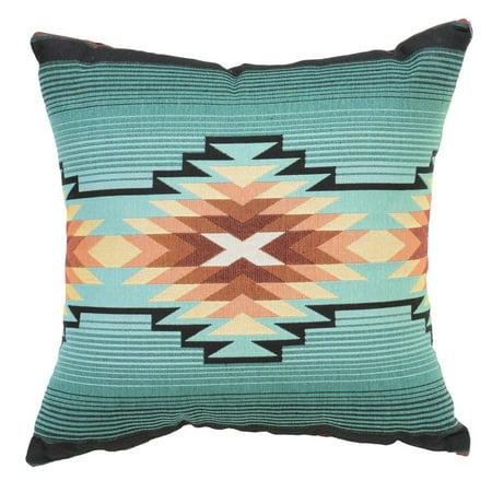 Turquoise Diamond Southwest Geometric Pillow ()
