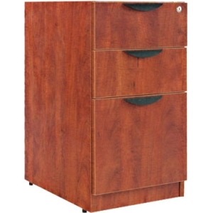 Alera 3 Drawers Vertical Lockable Filing Cabinet, Brown by ALERA
