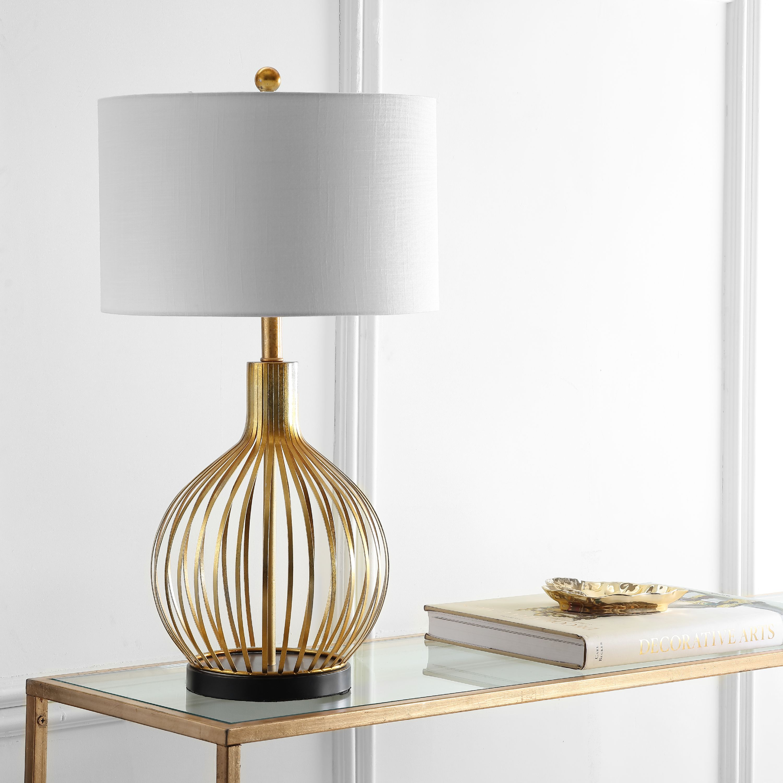 Baird 29 5 Led Metal Table Lamp Gold Leaf Walmart Com Walmart Com