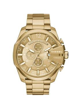 Diesel Men's 59mm Gold-Tone Steel Bracelet & Case Quartz Chronograph Watch DZ4360
