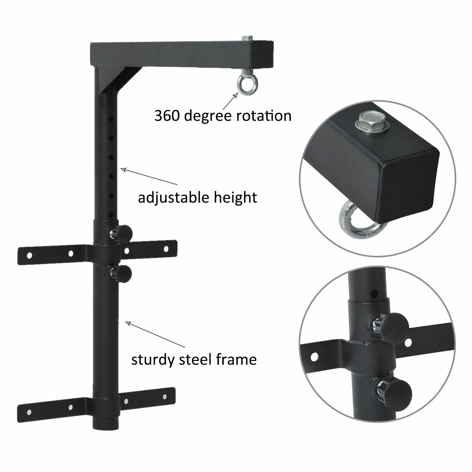 Soozier Wall Mount Heavy Bag Hanger Punching Bag Stand Boxing Bracket