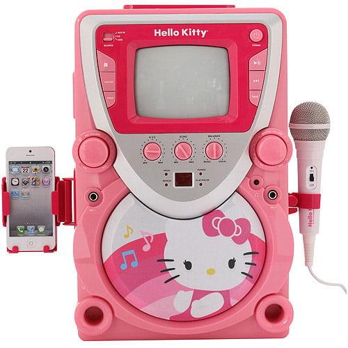 Hello Kitty Cd Karaoke System With Screen Walmart Com