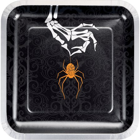 Halloween Spider Paper Plates, 24 count