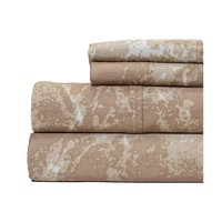 Aspire Linens Marble Print 400 Thread Count 100pct Cotton Sheet Set