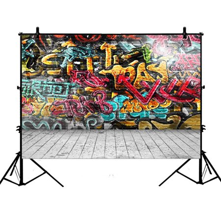 GCKG 7x5ft Printed Graffiti Wall Polyester Photography Backdrop Photography Props Studio Photo Booth Props - image 4 de 4