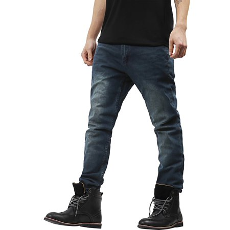 8d357389e27 Hat and Beyond - PI Mens Skinny Fit Stretch Jeans Distressed Ripped Denim  Pants - Walmart.com