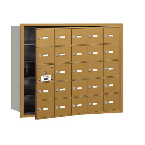 Salsbury Industries 4B+ Horizontal Mailbox 25 Doors Front Loading USPS Access