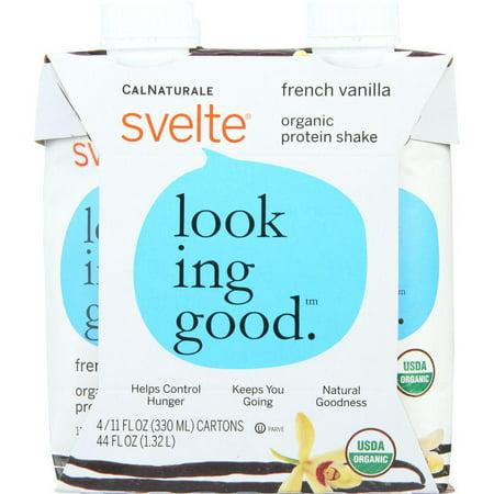 Svelte Protein Shake  Organic  French Vanilla  44 Oz