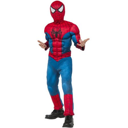 Spiderman Child Muscle Chest Halloween Costume (Ultimate Spiderman Costume)
