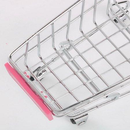 Creative Supermarket Mini Shopping Cart Trolley Metal Simulation Kid Toy - image 3 de 6