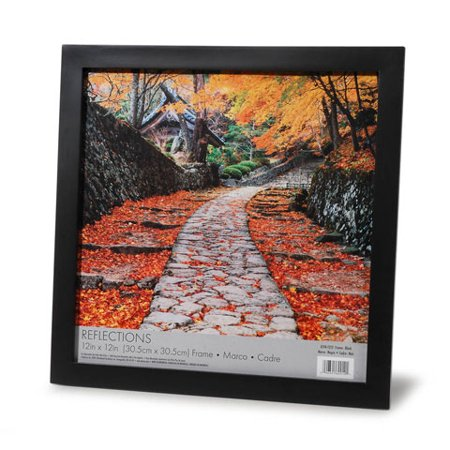 Frame - Linear - Black - No Mat - 12 x 12 (12 X 12 X 12 X 12)