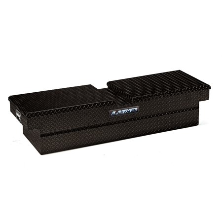 Tradesman Full-size Truck Aluminum Dual Lid Cross Bed Tool Box Aluminum Diamond Plate Tool Box
