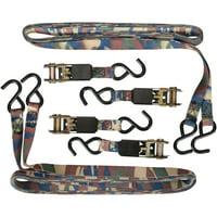 SmartStraps 10' Standard Camo Ratchet Tie Downs 4 ct Pack