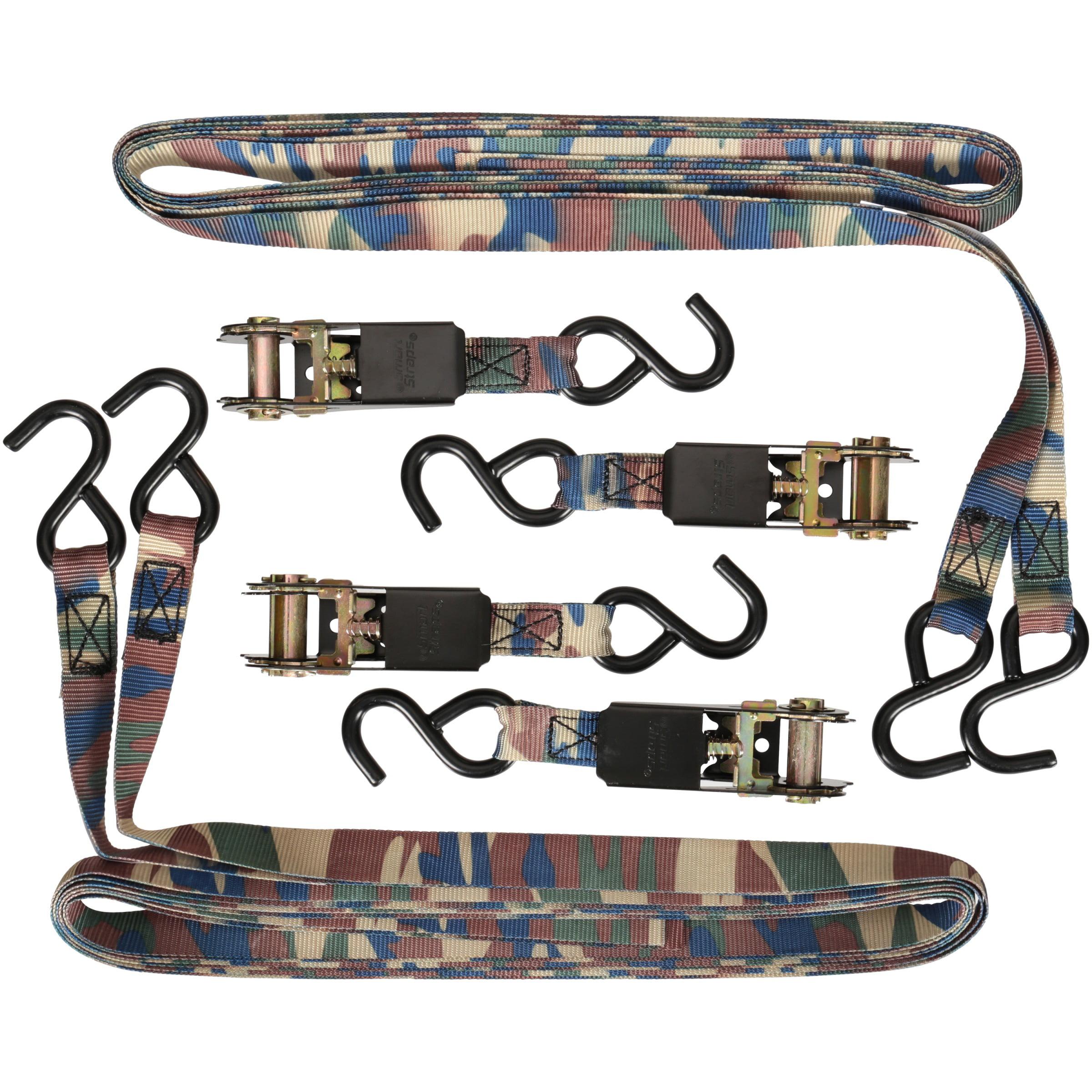 SmartStraps® 10' Standard Camo Ratchet Tie Downs 4 ct Pack