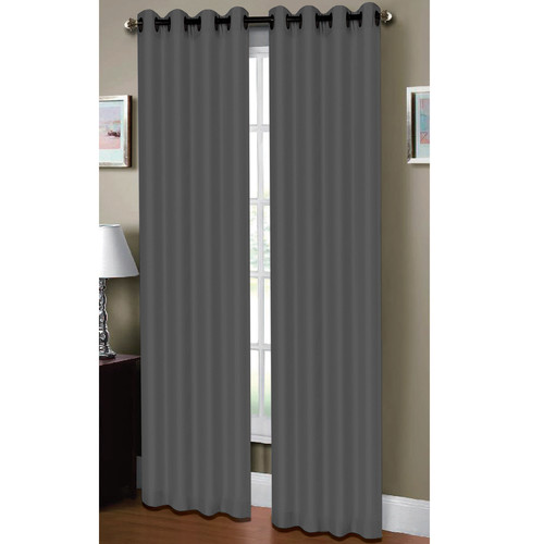 Raphael Heathered Faux Linen Extra Wide Grommet Curtain Panels