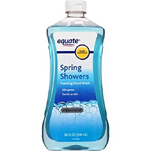 (2 Pack) Equate Antibacterial Foaming Hand Wash Refill, Spring Showers, 32 Oz