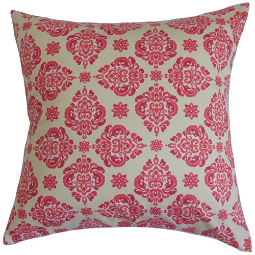 The Pillow Collection Gershom Floral Cotton Throw Pillow
