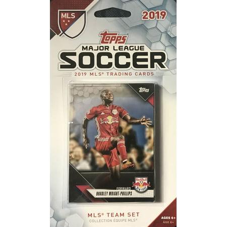 New York Red Bulls 2019 Topps MLS Soccer Factory Sealed 10 Card Team Set including Bradley Wright-Phillips and Kaku Plus 1987 Topps Factory Set