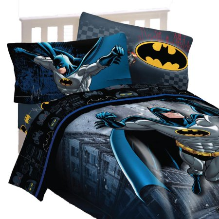 Batman Full Comforter and Sheet Set