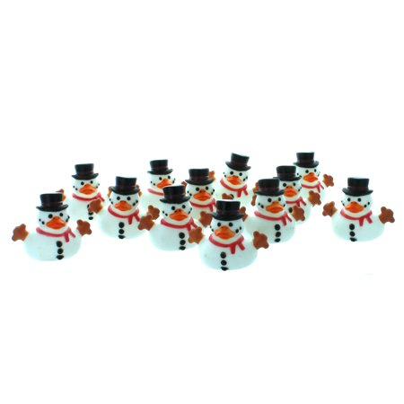Snowman Rubber Duckies Lot of 12 Ducks Holiday Christmas Winter