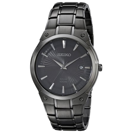 SNE325 Men's Core Solar Black Dial Black IP Steel Bracelet Power Reserve