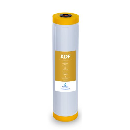 """Express Water – Kinetic Degradation Fluxion Replacement Filter – KDF Catalytic Carbon Large Capacity Water Filter – Whole House Heavy Metal Filtration – 4.5"""" x 20"""" -"""