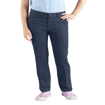 Dickies Girls Skinny Fit Straight Leg Stretch Twill Pant, 7-